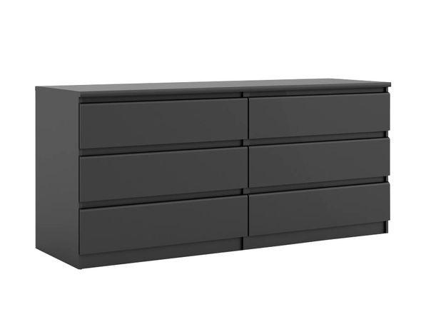 commode 2x3 tiroirs best lak noir mat
