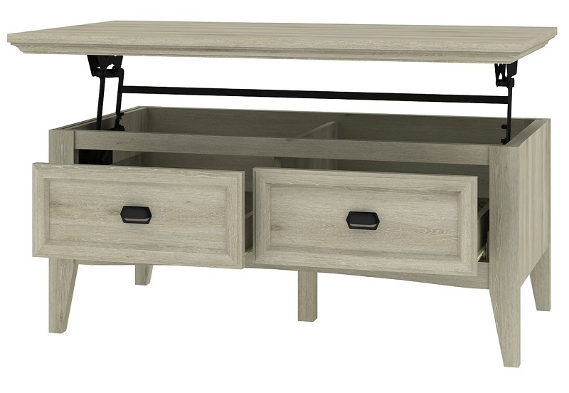 table basse malone chene gris pas cher