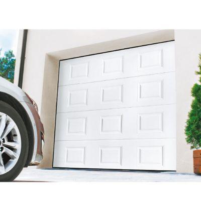 Porte De Garage Sectionnelle Motorisee Turia Blanc Pas Cher Porte De Garage Castorama Iziva Com