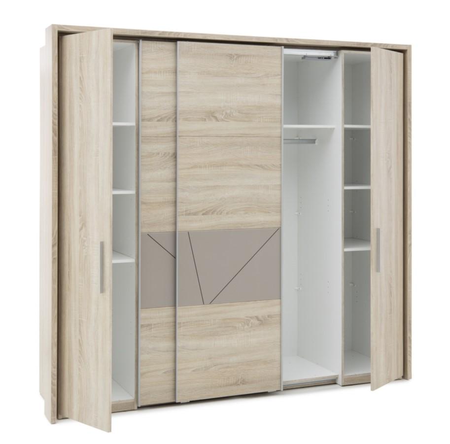 armoire 2 portes coulissantes relief