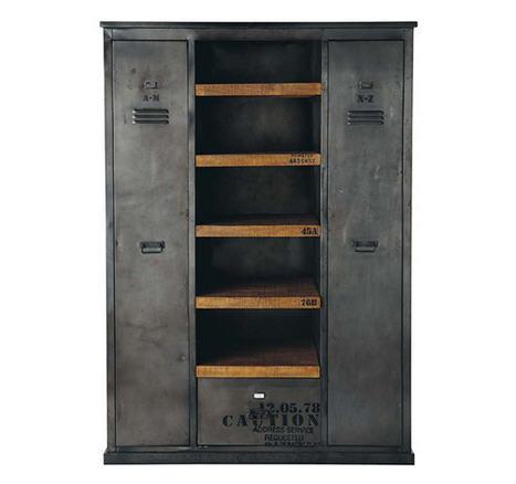 armoire vintage industriel acier et