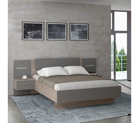 chambre complete ginger lit 140x190 cm
