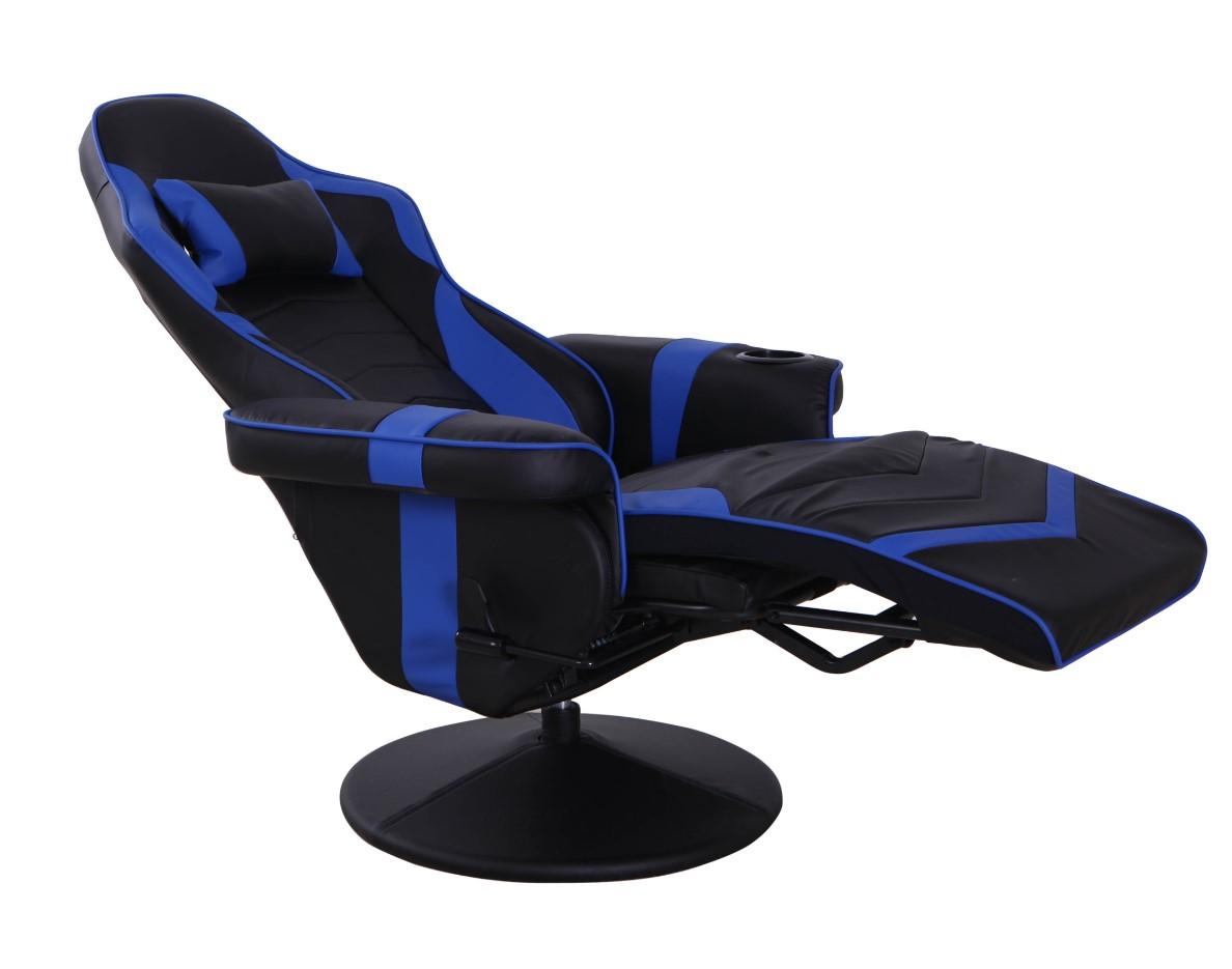 fauteuil gamer play noir et bleu pas