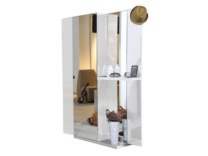 vestiaire 2 portes vertigo laque blanc