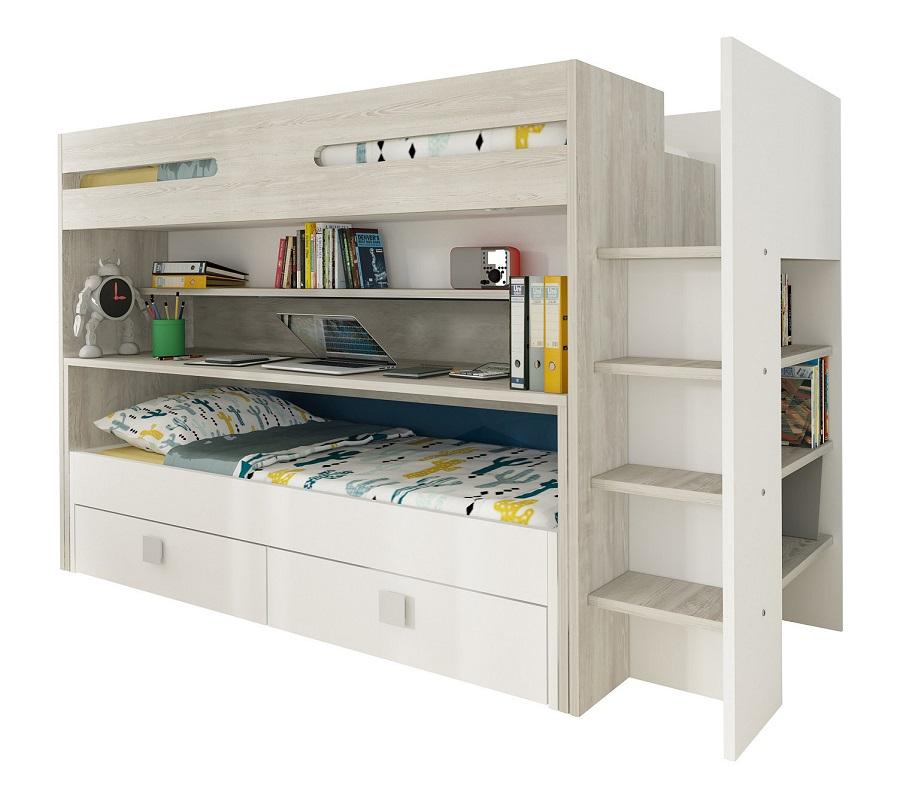 lits bureau 2 tiroirs jules