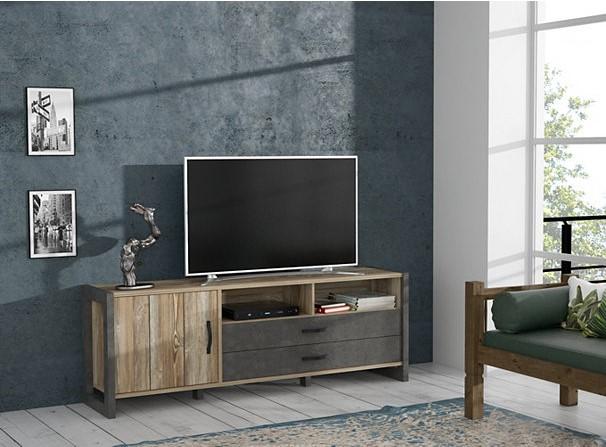 meuble tv industriel note pas cher