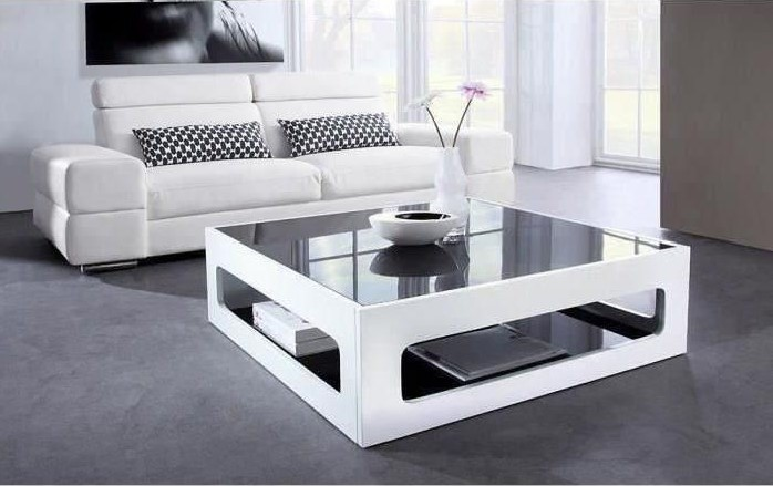 blanc brillant table basse cdiscount