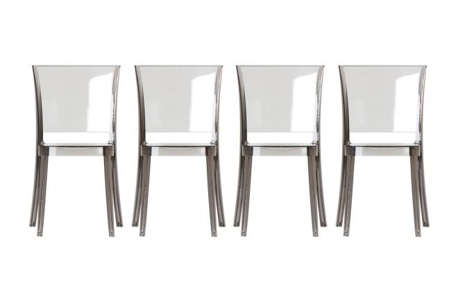 lot de 4 chaises en polycarbonate