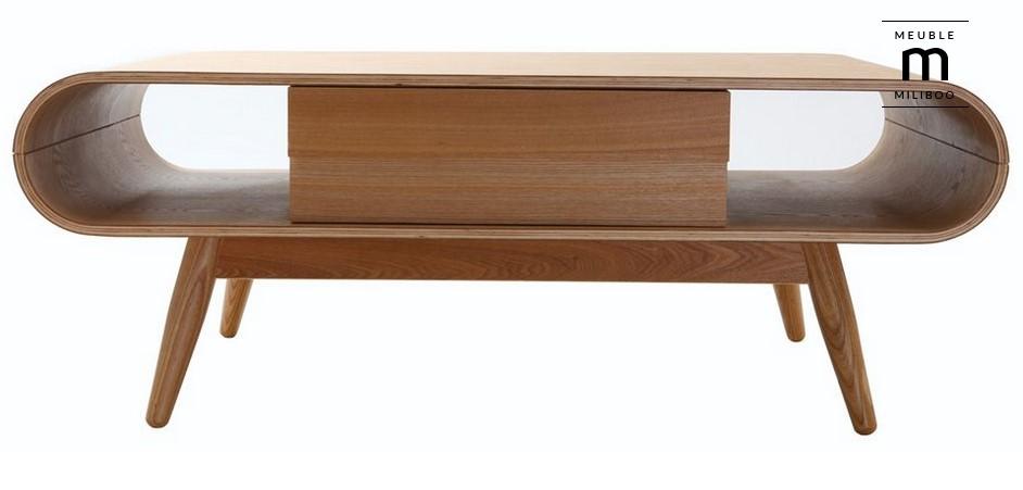 table basse scandinave bois naturel