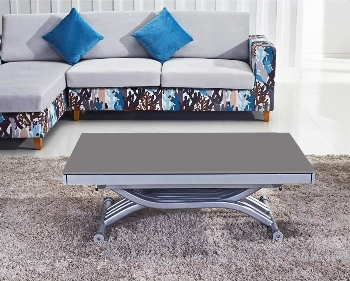 table basse relevable reality verre