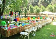 Konseptli Doğum Günü Organizasyonu Masa ve Sandalye Kiralama