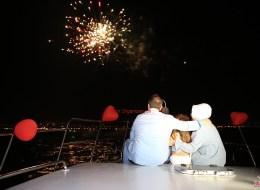 Evlilik Yıl Dönümü Organizasyonu Havai Fişek Gösterisi İzmir