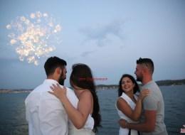 Ayvalık Teknede Evlenme Teklifi Organizasyonu ve Havai Fişek Gösterisi