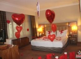 Romantik Evlilik Teklifi Organizasyonu Otel Odası Süsleme İzmir