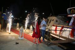 izmir tekne kiralama 14 - Hıdırellez'de Teknede Havai Fişek ile Evlenme Teklifi Organizasyonu