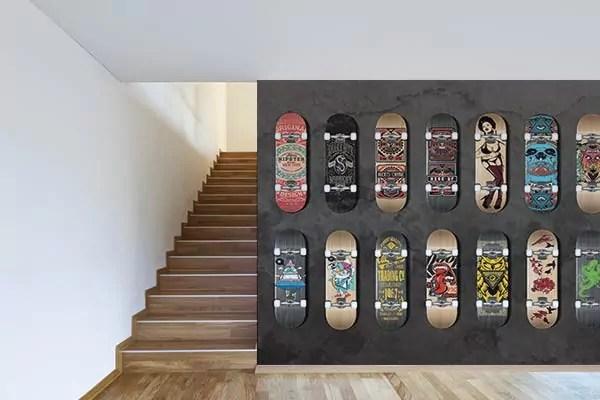 Papier peint graphique Collection de Skates  Izoa