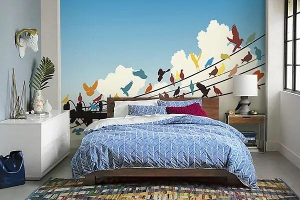 papier peint chambre adulte colore migration