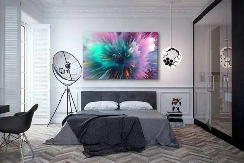 tableau abstrait color pour une dcoration murale moderne