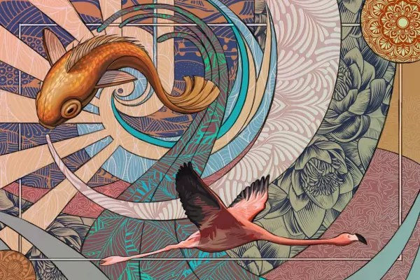 tableau toile parade psychedelique