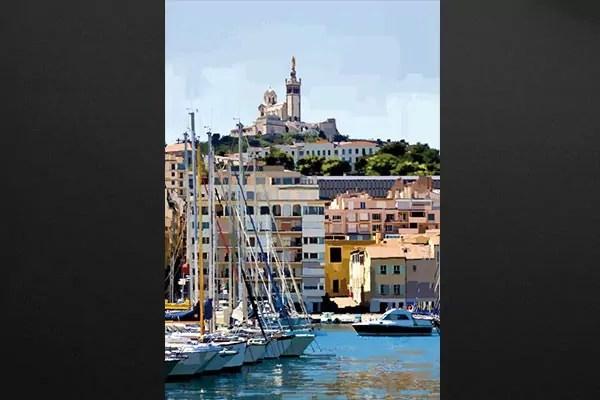 Tableau photo Vieux port Marseille  Izoa