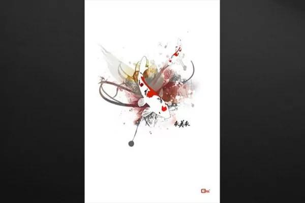 Tableau dco Carpe Koi par Mathieu Gazaix  Izoa