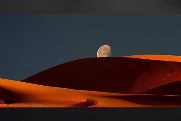 Toile moderne lune de jour  Izoa