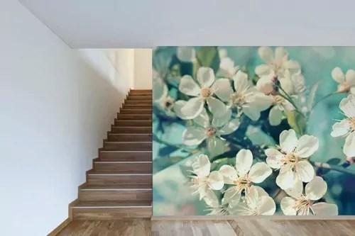 papier peint photo fleurs de