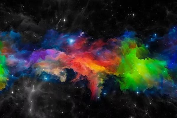 Tableau abstrait dcoration Univers  Izoa