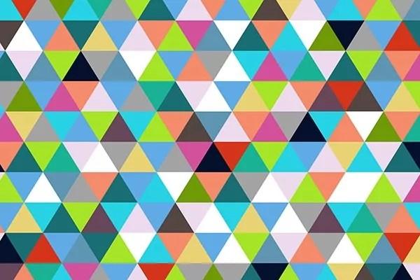 Papier Peint Gometrique Triangles Izoa