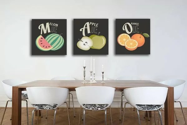 Tableau Triptyque Salade de Fruits  Izoa