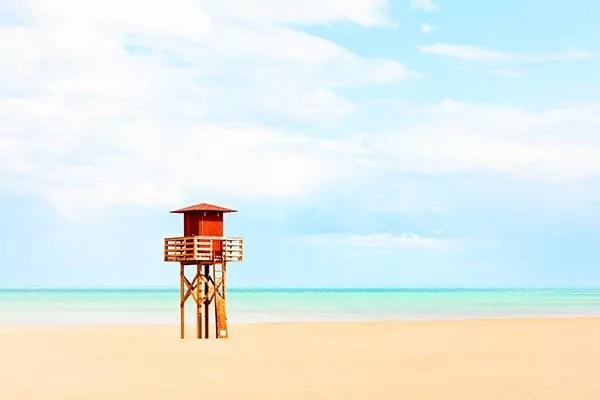 Tableaux mer et plage sauveteur