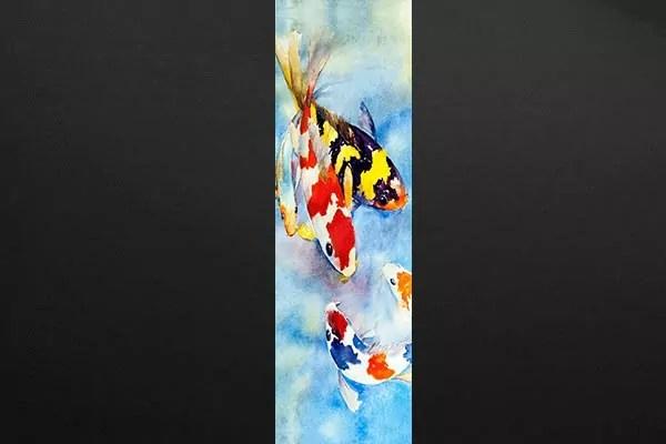 Poster mural Carpes Kohaku  Izoa
