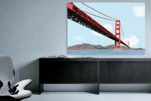 Tableau deco golden gate izoa