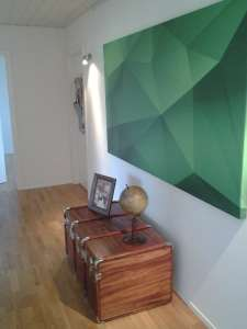 Tableau Abstraction Vert izoa chez Sarah