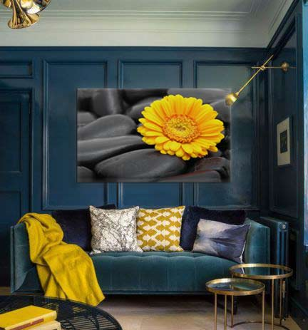 tendance d co le jaune moutarde blog toile design et moderne d 39 izoa. Black Bedroom Furniture Sets. Home Design Ideas