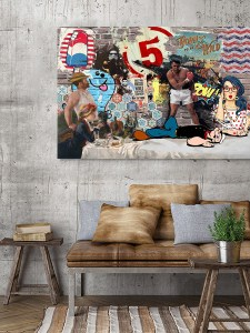 toile-deco-pop-art-pow