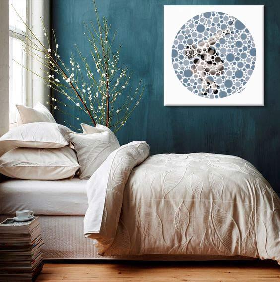 Dcoration murale Bleu canard  Blog Izoa