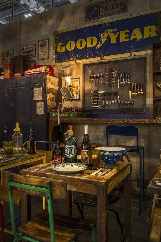 décoration murale industrielle restaurant image pinterest