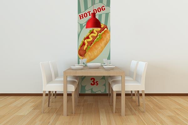 lé de papier peint rétro déco restaurant vintage