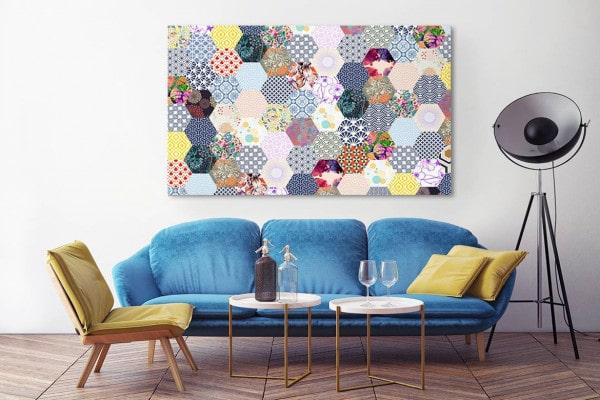 tableau design original patchwork izoa