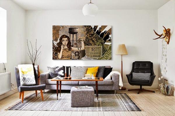 décoration murale pop art salon