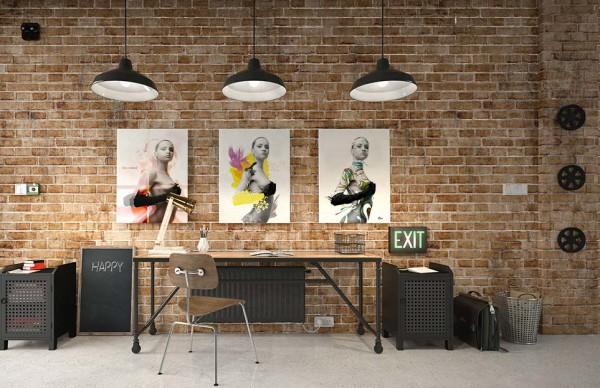 tableau triptyque izoa décoration loft new york