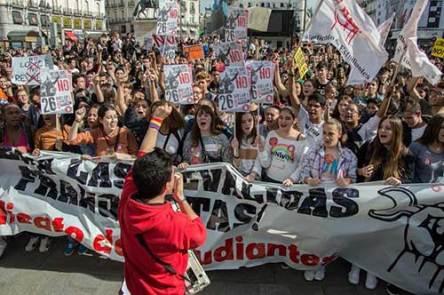 Manifestación Estudiantil en Madrid el 26O