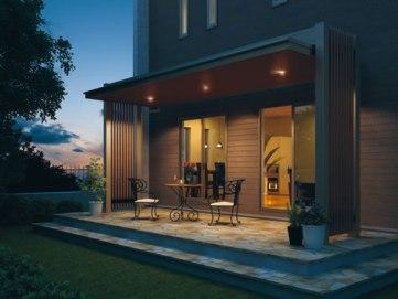 住宅に併設して後付けの屋根としても使えます。