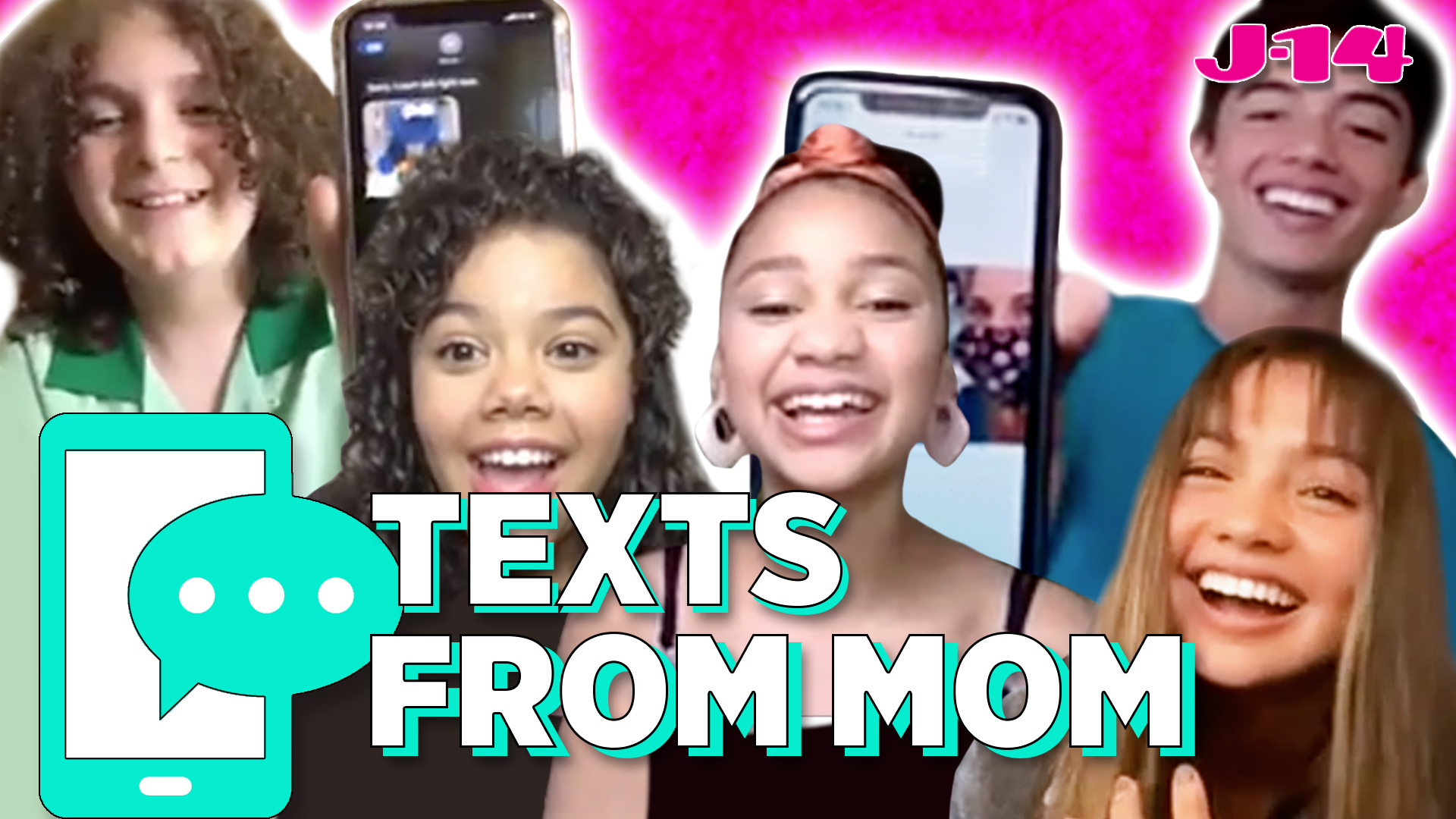 Upside Down Magic Cast Reads Text Messages From Their Moms