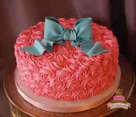 (232) Gender Reveal Rosette Cake
