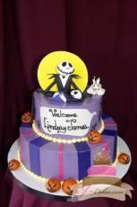 (214) Nightmare Before Christmas Baby Shower Cake