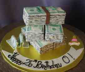 (180) Money Birthday Cake