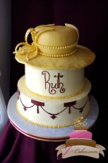 (136) Elegant Hat Birthday Cake