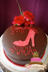 (146) Simple Shoe Birthday Cake